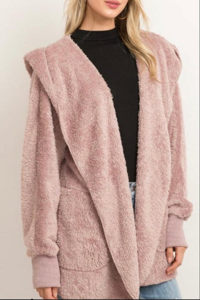 Faux Fur Cardigan Jacket - Keally Boutique