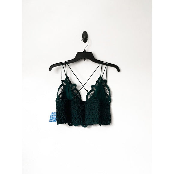 Free People Dark Green Adella Bralette
