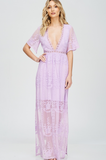 Lavender Lace Maxi Dress - Keally Boutique