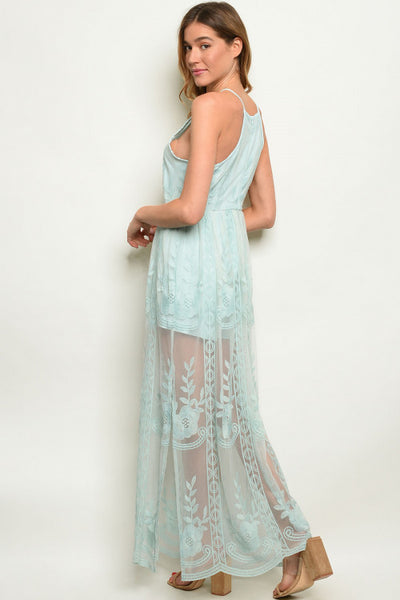 Mint Lace Maxi Dress - Keally Boutique