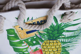 to the beach pineapple tote bag