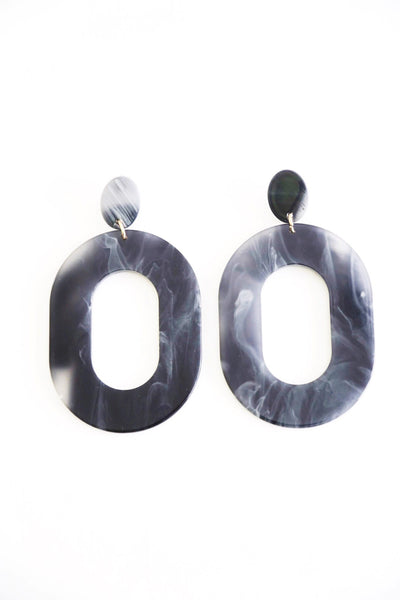 Acrylic Marble Earrings