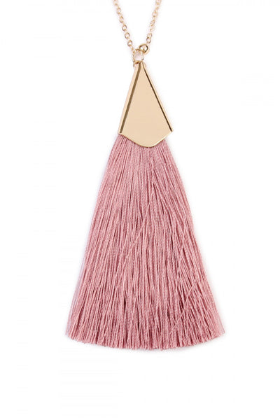 Blush Tassel Necklace