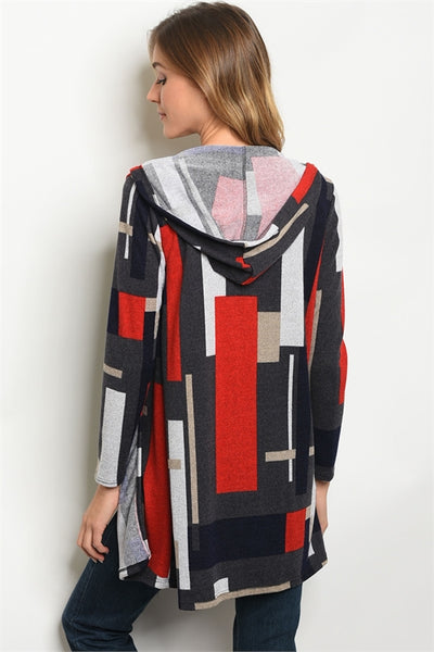 Color Block Multi Color Cardigan