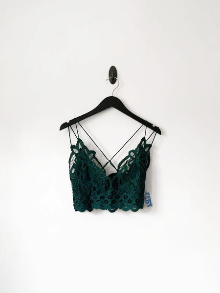 FREE PEOPLE ADELLA BRALETTE GREEN