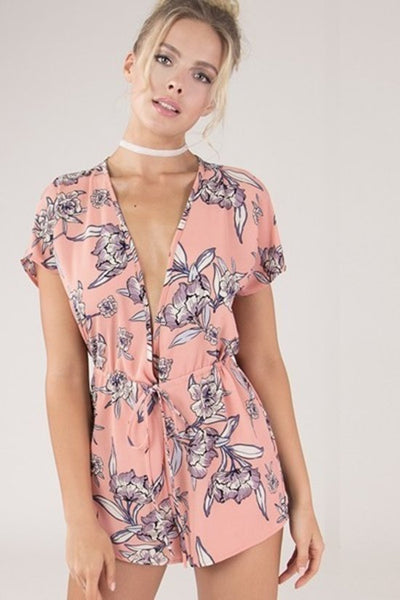 Pink Blossom Romper - Keally Boutique