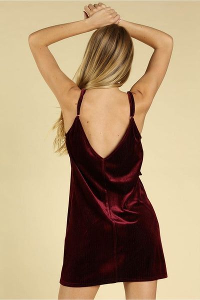 Velvet Ruffle Dress