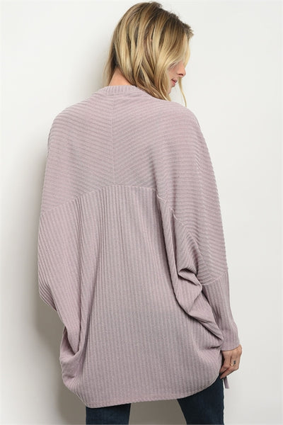Slouchy Open Front Cardigan