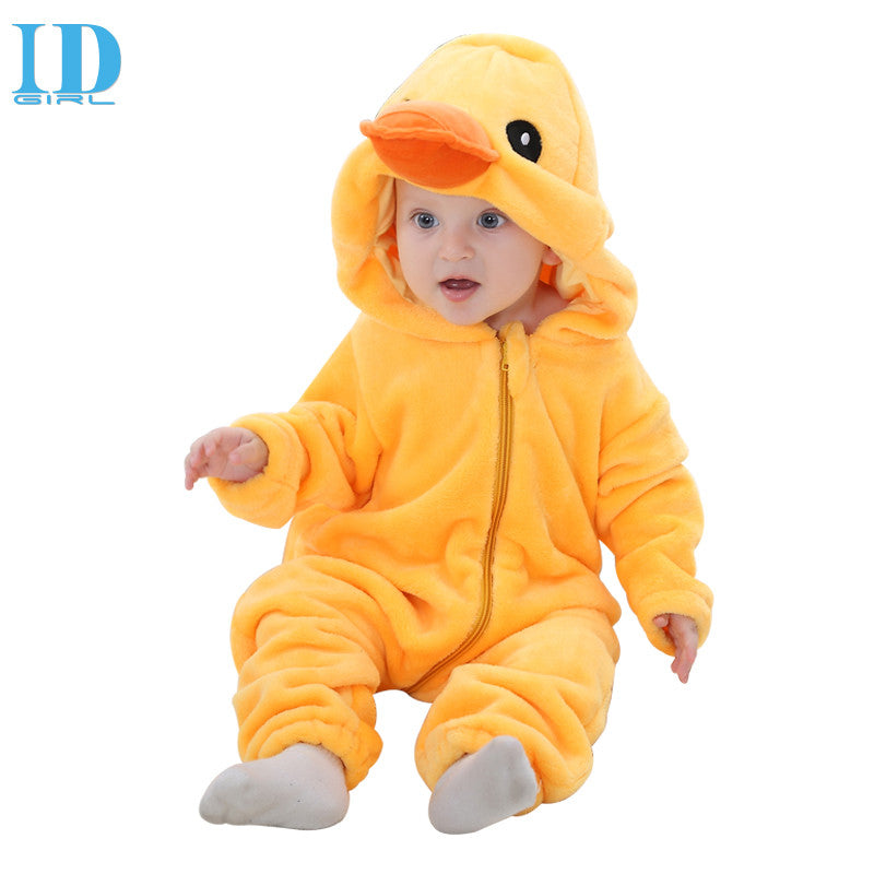 d0d8bddd9 Spring Autumn Baby Clothes Flannel Baby Boys Clothes Cartoon Animal  Jumpsuits Infant Girls Rompers Baby Clothing XYZ15088