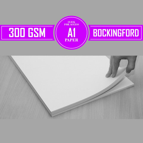 A1 Bockingford Watercolour Paper 300gsm (Pack of 10 Sheets)