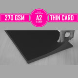 Thin Card - Black A2 (pack of 50)
