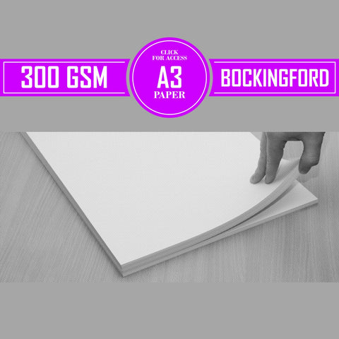 A3 Bockingford Watercolour Paper 300gsm (Pack of 10 Sheets)