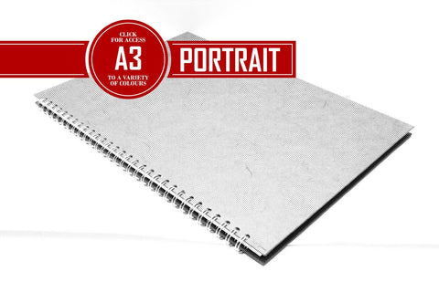 A3 Posh Patterned Bergung Pig - 100% Recycled White 150gsm Cartridge Paper 35 Leaves Portrait