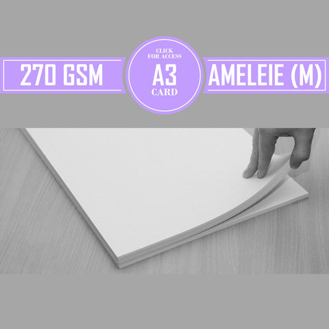 A3 270gsm Matte Ameleie Watercolour Paper (Pack of 10 Sheets)