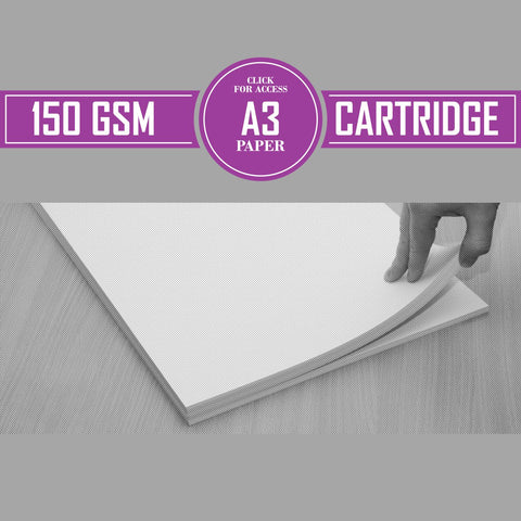 A3 150gsm Cartridge Paper (Pack of 200 Sheets)