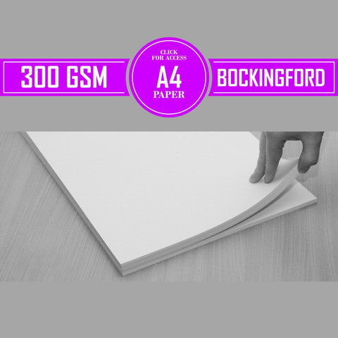 A4 Bockingford Watercolour Paper 300gsm (Pack of 10 Sheets)