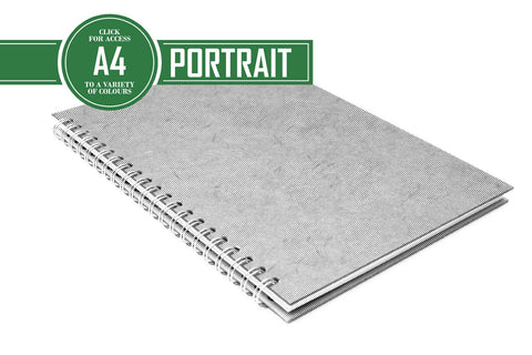 A4 Posh Project Book 150gsm Blank Cartridge & Lined Writing Paper 48 Leaves Portrait (Pack of 5)