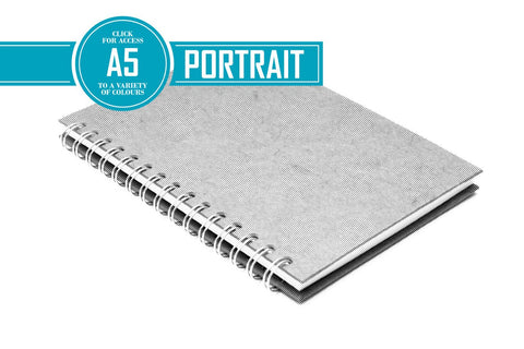 A5 Posh Patterned Bergung Pig - 100% Recycled White 150gsm Cartridge Paper 35 Leaves Portrait