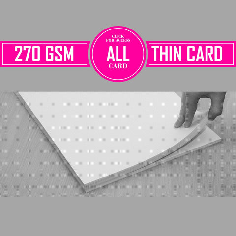 270gsm Thin Card  (Pack of 50 Sheets)