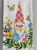 Easter Gnome Holding Spring Flowers 100% Cotton Kitchen Towels