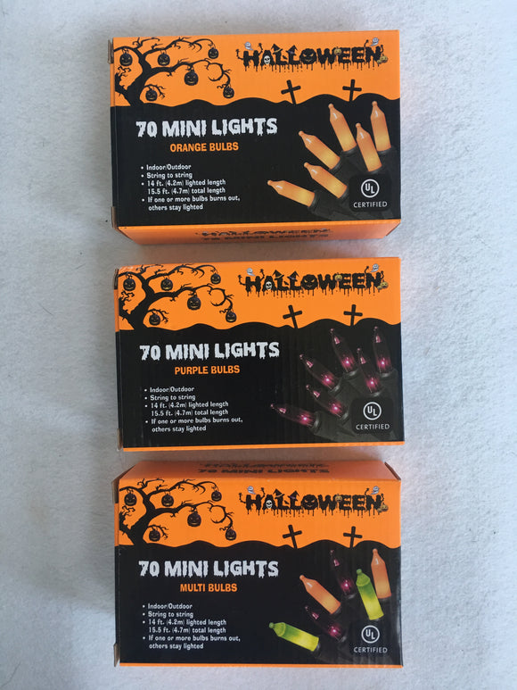 Halloween String of 70 Mini Lights