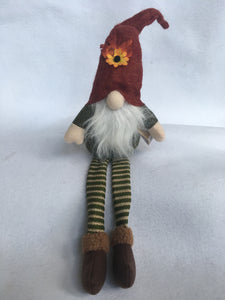 Harvest Plush Gnome With Long Legs