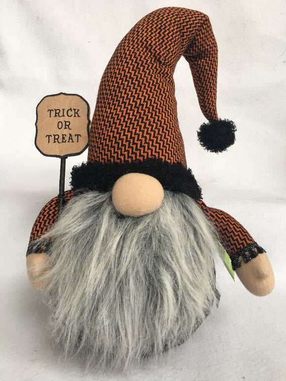Halloween X-Large Gnome Holding Trick or Treat Sign