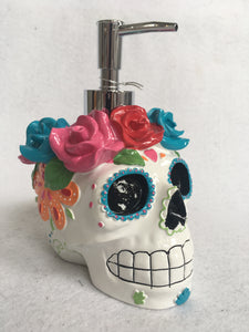 Halloween Decorated Skull with Roses Soap Dispenser by Croscill