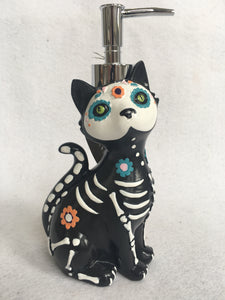 Halloween Decorated Skeleton Cat Soap Dispenser by Croscill