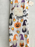 Halloween Dressed Gnomes, Pumpkins and Candy Corn Blanket Throw