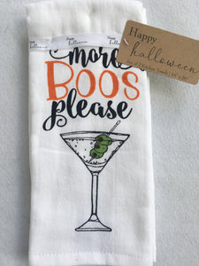Halloween More Boos Please Kitchen Towel