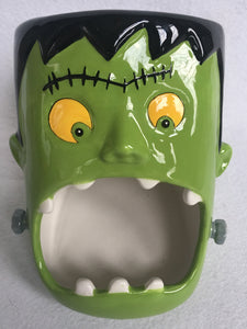 Halloween Frankenstein With Open Mouth Candy Jar