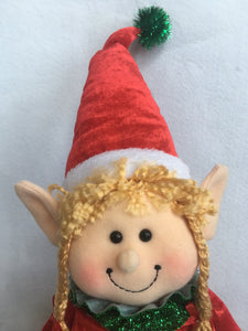 Christmas Plush Boy or Girl Elf With Long Legs