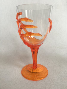 Halloween Skeleton Hand Plastic Beverage Glass