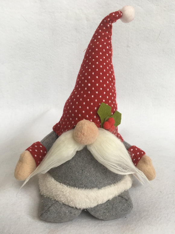 Christmas Plush Santa Gnome With Mustache