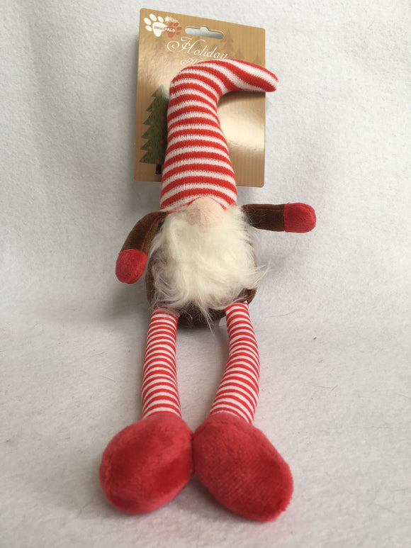 Christmas Santa Gnome Dog Toy