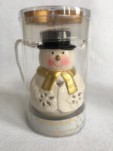Christmas Snowman Tea Light Holder