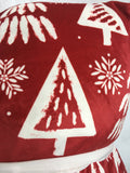 Christmas Trees and Snowflakes Super Comfortable Set of 2 Pillows