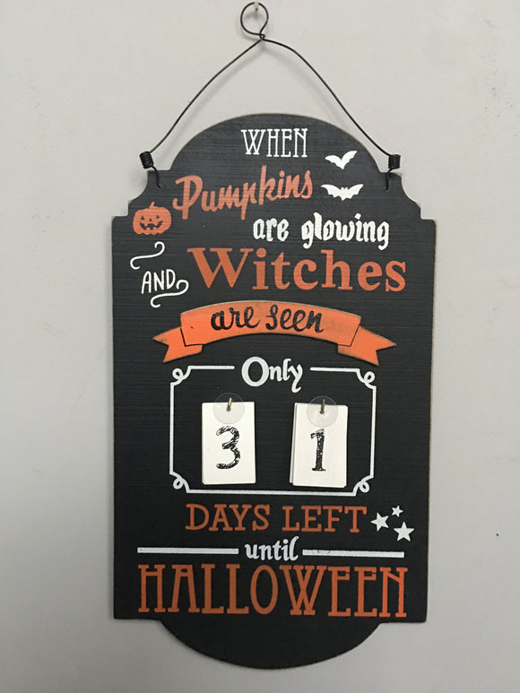 Halloween Pumpkin and Witches Countdown Calendar