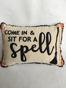 Halloween Rectangular Come In & Sit For A Spell Pillow