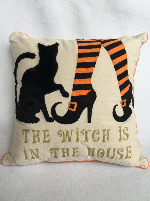 Halloween The Witch Is In The House Pillow