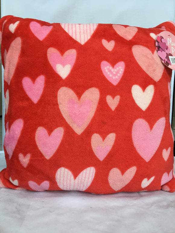 Valentine Polka Dot Heart Plush Pillow
