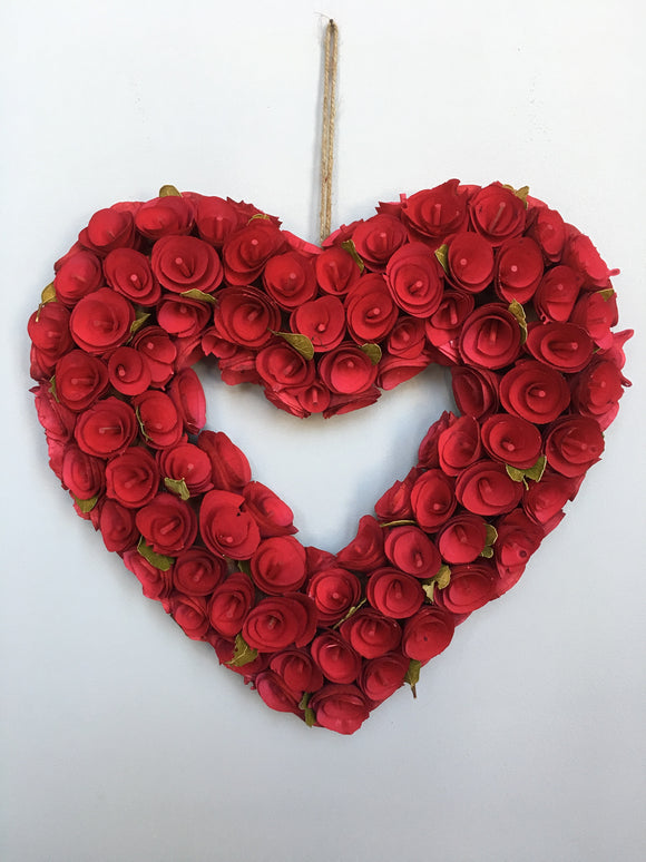 Valentine Heart Shaped Wreath