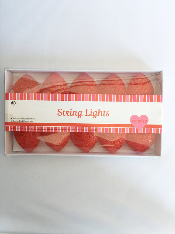 Valentine Gel Coated Heart Shaped String Lights