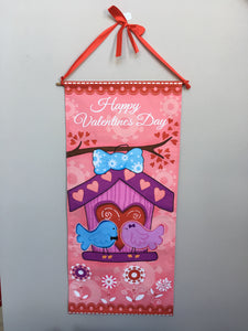 Valentine Love Birds Wall Hanging