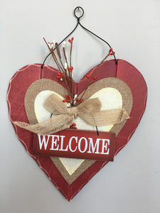 Valentine Heart Welcome Sign