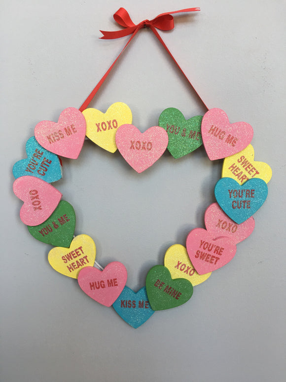 Valentine Candy Hearts Sign