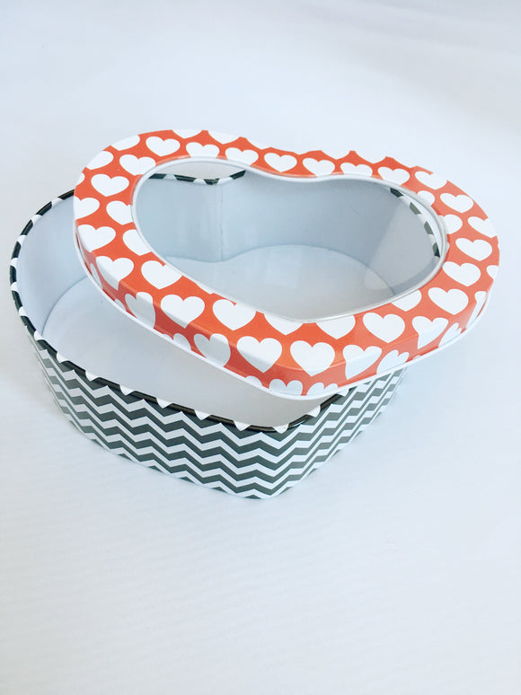 Valentine Heart Shaped Tin Containers