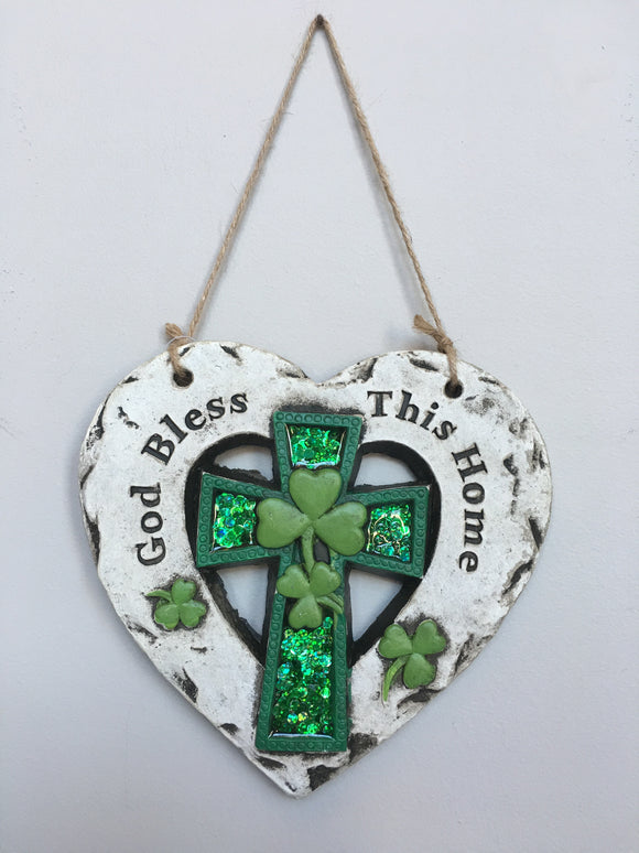 Saint Patrick's Day God Bless This Home Slate Wall Hanger