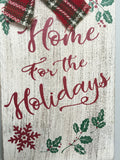 Christmas Snowman Home for the Holidays Sign